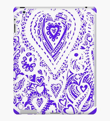 Valentine Circle of Hearts Aussie Tangle - White - See Description Notes re Colours iPad Case/Skin