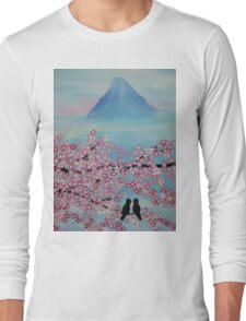 Below Mt Fuji Long Sleeve T-Shirt