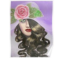 LADY IN A LAVENDER HAT Poster