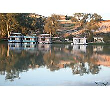 Houseboats on the river. Photographic Print