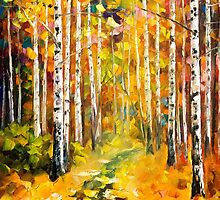 Tall Birches — Buy Now Link - www.etsy.com/listing/218071986 by Leonid  Afremov