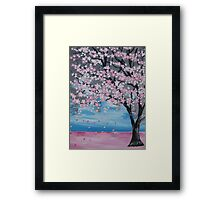 Blossoms blowing in the wind Framed Print