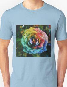 Rainbow Rose painting T-Shirt
