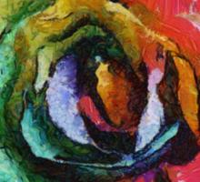 Rainbow Rose painting Sticker