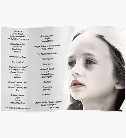 DREAMER SWEET ANGEL Collaboration w/poppykitten Poster