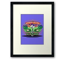 Oysters In A Half Shell Framed Print
