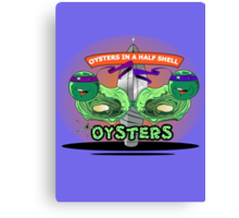 Oysters In A Half Shell Canvas Print