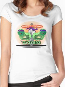 Oysters In A Half Shell Women's Fitted Scoop T-Shirt