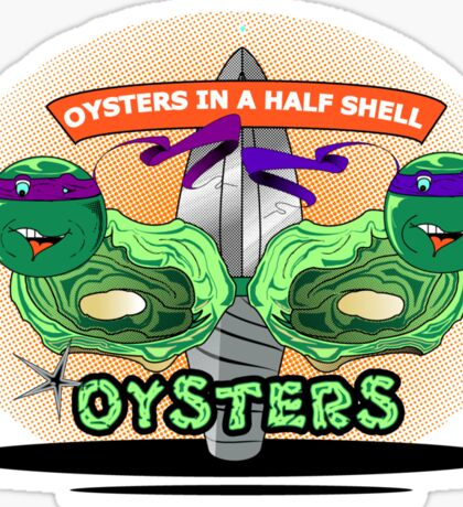 Oysters In A Half Shell Sticker