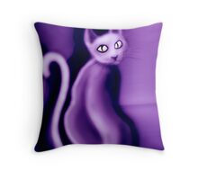 Purrple Pussy  Throw Pillow