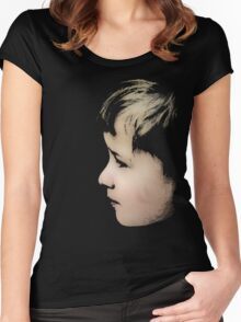 Little boy (T-Shirt & iPhone case) Women's Fitted Scoop T-Shirt