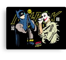 The Post-Punk Face-Off Canvas Print