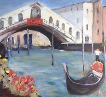 After Colley Whisson- Rialto Bridge by Estelle O'Brien