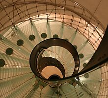 Glass Spiral Staircase in Vienna by Reese Forbes