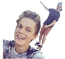Tyler Oakley and Casper Lee Photographic Print