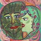The Green Man and the Lady of Blossoms. by Naomi Downie