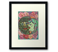 The Green Man and the Lady of Blossoms. Framed Print