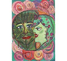 The Green Man and the Lady of Blossoms. Photographic Print