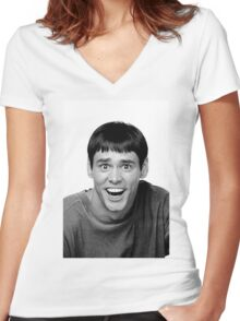 Jim Carrey from Dumb and Dumber Women's Fitted V-Neck T-Shirt