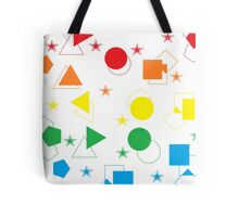 Simply Shaped - Rainbow  Tote Bag