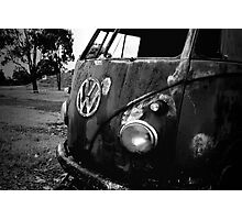 rust bus Photographic Print