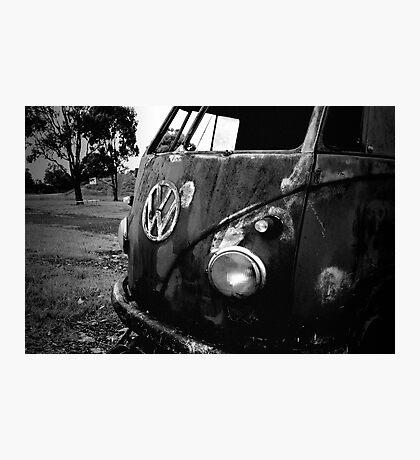 rust bus Photographic Print