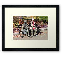 Enjoying a Chat in the Park, Vancouver, Canada  Framed Print