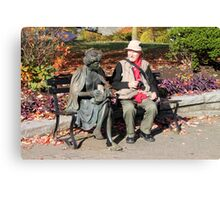 Enjoying a Chat in the Park, Vancouver, Canada  Canvas Print