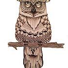 Tribal Owl by Oliwiaaa