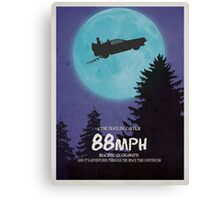 88mph (ET Movie Poster Parody) Canvas Print