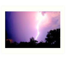 THUNDER AND LIGHTNING  ! Art Print