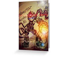 Dunk Master megaman Greeting Card