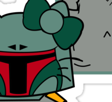 SOLO and FETT KITTY Sticker