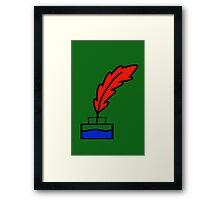 Writing Quill Framed Print