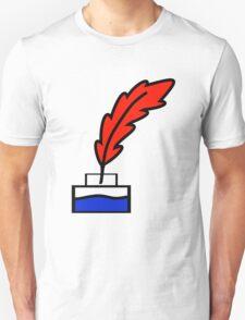 Writing Quill Unisex T-Shirt
