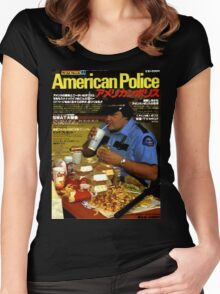 American Police Women's Fitted Scoop T-Shirt