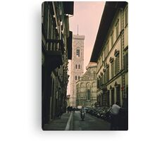Backstreets of Florence, Italy Canvas Print
