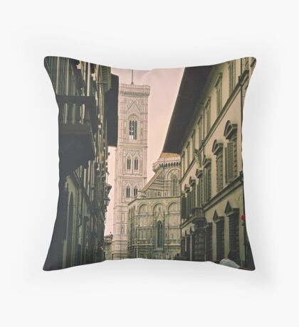Backstreets of Florence, Italy Throw Pillow