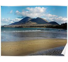 Croagh Patrick beach view Poster