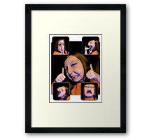Funny Faces Framed Print