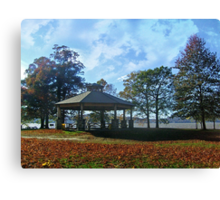 Gazebo By the Hudson River, Kingsland Point Park Canvas Print