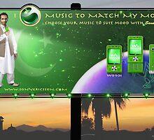 Limited Edition Pakistan 60th Anniversary Sony Ericsson Walkman W910i phone by Kenny Irwin