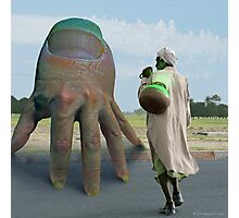 Fingio Vendarr Nailstar, Leader of Outerspace Hand share top secret data with Energon Milker Arshad Photographic Print