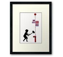 Banksy Hammer Boy Framed Print