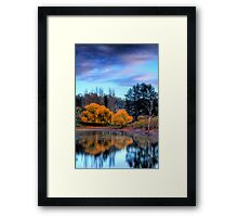 Autumn colours and reflections, Adelaide Hills Framed Print