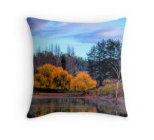 Autumn colours and reflections, Adelaide Hills Throw Pillow