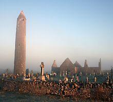 Kilmacduagh cemetery view by John Quinn