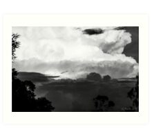 Eastern Storm Cell-Blooms [bw] Art Print