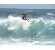 Surfing, contest at Pohoiki Photographic Print