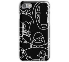 Ghibli in black iPhone Case/Skin